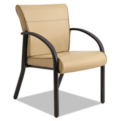 Gratzi Reception Series Guest Chair with Arms, Taupe Vinyl