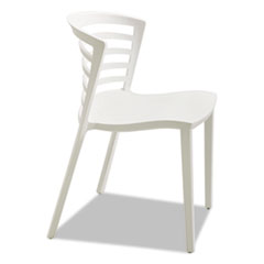 Entourage Stack Chair, White, 4 per Carton