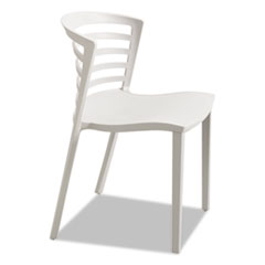 Entourage Stack Chair, Gray, 4 per Carton