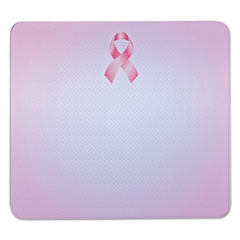 "Mouse Pad with Precise Mousing Surface, 9"" x 8"" x 1/4"", Pink Ribbon Design"