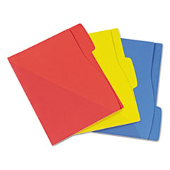 Priority Pocket File Folder, Letter, 1/3 Cut Tab Top, Assorted, 24/Pack
