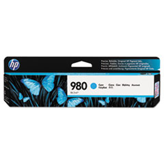D8J07A (HP 980) Ink, 6600 Page-Yield, Cyan