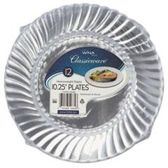 "Classicware Plastic Dinnerware Plates, 10 1/4"" Dia, Clear, 12/Bag, 144/Carton WNARSCW101212PK"