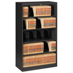Open Fixed Shelf Lateral File, 36w x 16 1/2d x 63 1/2, Black