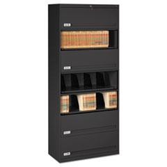 Closed Fixed Shelf Lateral File, 36w x 16 1/2d x 87h, Black