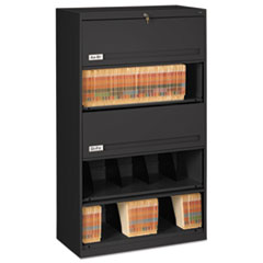 Closed Fixed Shelf Lateral File, 36w x 16 1/2d x 63 1/2, Black