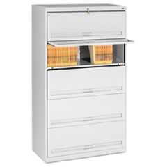 Closed Fixed Shelf Lateral File, 36w x 16 1/2d x 63 1/2, Light Gray