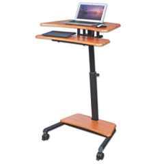 Up- Rite Mobile Sit- Stand Workstation, 27 1/ 2w x 22 1/ 2d x 45 1/ 2h, Cherry