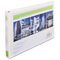 """11"""" x 17"""" Heavy-Duty View Binders, Locking 1-Touch EZD Rings, 1"""" Cap, White"""