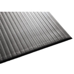 Air Step Antifatigue Mat, Polypropylene, 24 x 36, Black MLL24020302