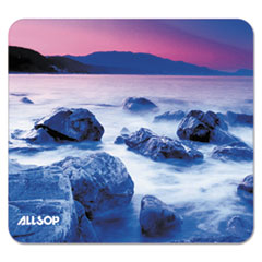 Naturesmart Mouse Pad, Rocks/Ocean Mist Design, 8 1/2 x 8 x 1/10