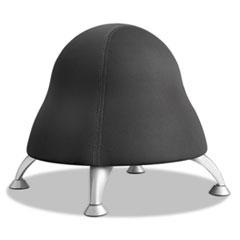 """Runtz Ball Chair, 12"""" Diameter x 17"""" High, Licorice Black"""