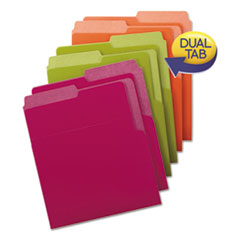 Organized Up Heavyweight Vertical Folders, Assorted Bright Tones, 6/Pack