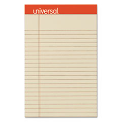 Fashion Colored Perforated Note Pads, 5 x 8, Legal, Ivory, 50 Sheets, 6/Pack