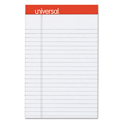 Fashion Colored Perforated Note Pads, 5 x 8, Legal, Gray, 50 Sheets, 6/Pack