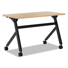 Multipurpose Table Flip Base Table, 48w x 24d x 29 3/8h, Wheat