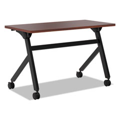 Multipurpose Table Flip Base Table, 48w x 24d x 29 3/8h, Chestnut