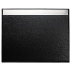 Architect Line Desk Pad, 24 x 19, Black/Silver