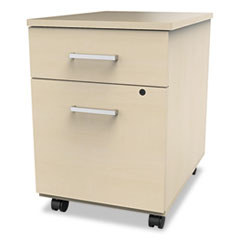 Trento Line Mobile Pedestal File, Box/File Drawer, Oatmeal LITTR752OAT
