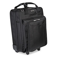 "Corporate Traveler Vertical Rolling Laptop Case, 17"",14 1/8 x 19 3/4 x 7 1/2, BK"
