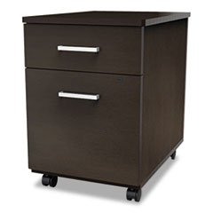 Trento Line Mobile Pedestal File, Box/File Drawer, Mocha LITTR752MOC