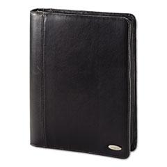Zip Bi-Fold Padfolio, 8 1/2 x 11, Black