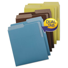 Organized Up Heavyweight Vertical Folders, Assorted Earth Tones, 6/Pack