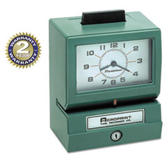Model 125 Analog Manual Print Time Clock with Date/0-23 Hours/Minutes ACP01107040A