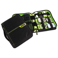 Cable Stable DLX with Zipper Closure, Black/Green