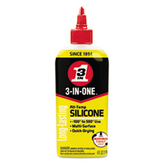 3-IN-ONE Professional Silicone Lubricant, 4 oz Bottle WDF120008