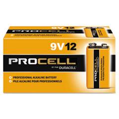 DURACELL PROCELL 9 VOLT ALKALINE BATTERY 12BX