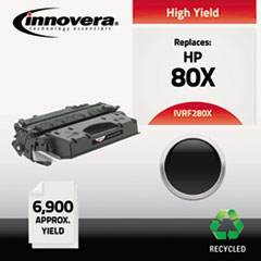 Remanufactured CF280X (80X) High-Yield Toner, 6900 Page-Yield, Black