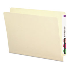 Antimicrobial File Folders, Straight End Tab, 11 Point, Letter, Manila, 100/Box