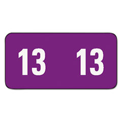 Yearly End Tab Folder Labels, 1/2 x 1, Purple, 250 Labels/Pack