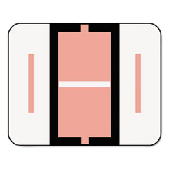A-Z Color-Coded Bar-Style End Tab Labels, Letter I, Pink, 500/Roll