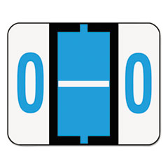 A-Z Color-Coded Bar-Style End Tab Labels, Letter O, Blue, 500/Roll