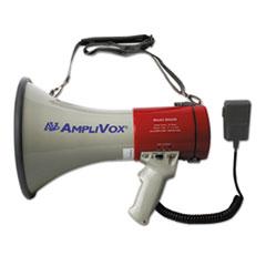 MityMeg Piezo Dynamic Megaphone w/Detachable Microphone, 25W, 1 Mile Range