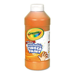 Washable Fingerpaint, Orange, 16 oz