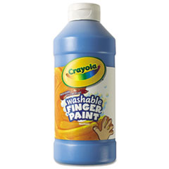 Washable Fingerpaint, Blue, 16 oz