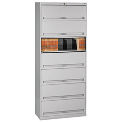 Closed Fixed Shelf Lateral File, 36w x 16 1/2d x 87h, Light Gray