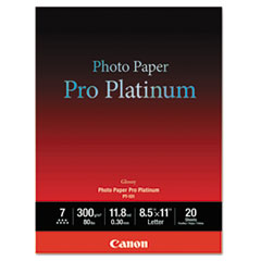 Photo Paper Pro Platinum, High Gloss, 8-1/2 x 11, 80 lb., White, 20 Sheets/Pack