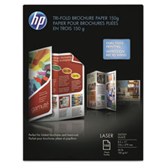 Tri-Fold Laser Brochure Paper, 97 Brightness, 40lb, 8-1/2 x 11, White, 150 /Pack