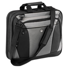 "CityLite Laptop Case 15.6"", 13-1/2 x  4-3/5 x 17-1/2, Black/Gray"