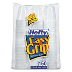 Easy Grip Disposable Plastic Bathroom Cups, 3oz, White, 150/Pack, 12 P RFPC20315CT