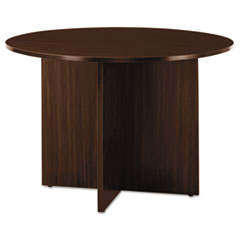"Valencia II Series Round Table, 42"" Diameter, Straight Leg, Espresso"