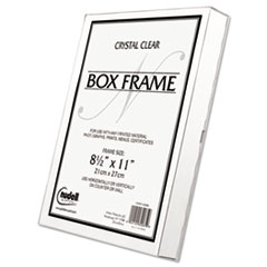 Un-Frame Box Photo Frame, Plastic, 8-1/2 x 11, Clear NUD30085