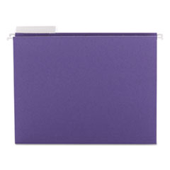 Color Hanging Folders with 1/3-Cut Tabs, 11 Pt. Stock, Purple, 25/BX