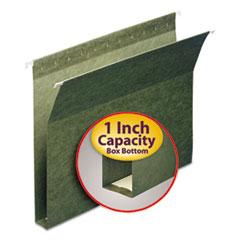 "1"" Capacity Box Bottom Hanging File Folders, Letter, Green, 25/Box"
