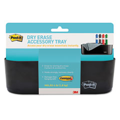Dry Erase Accessory Tray, 8 1/2 x 3 x 5 1/4, Black