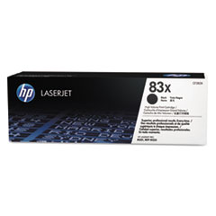 HP 83X, (CF283X) High Yield Black Original LaserJet Toner Cartridge